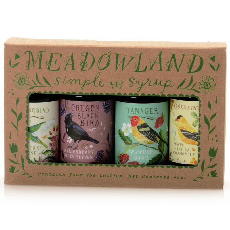 Meadowland Syrup Sweet Bird Collection: Simple Syrup Sampler (4 x 1 oz)