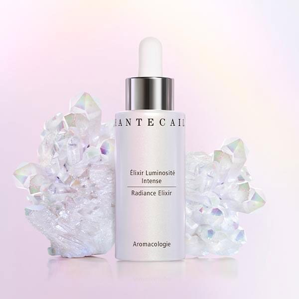 Chantecaille Radiance Elixir beauty shot with crystals