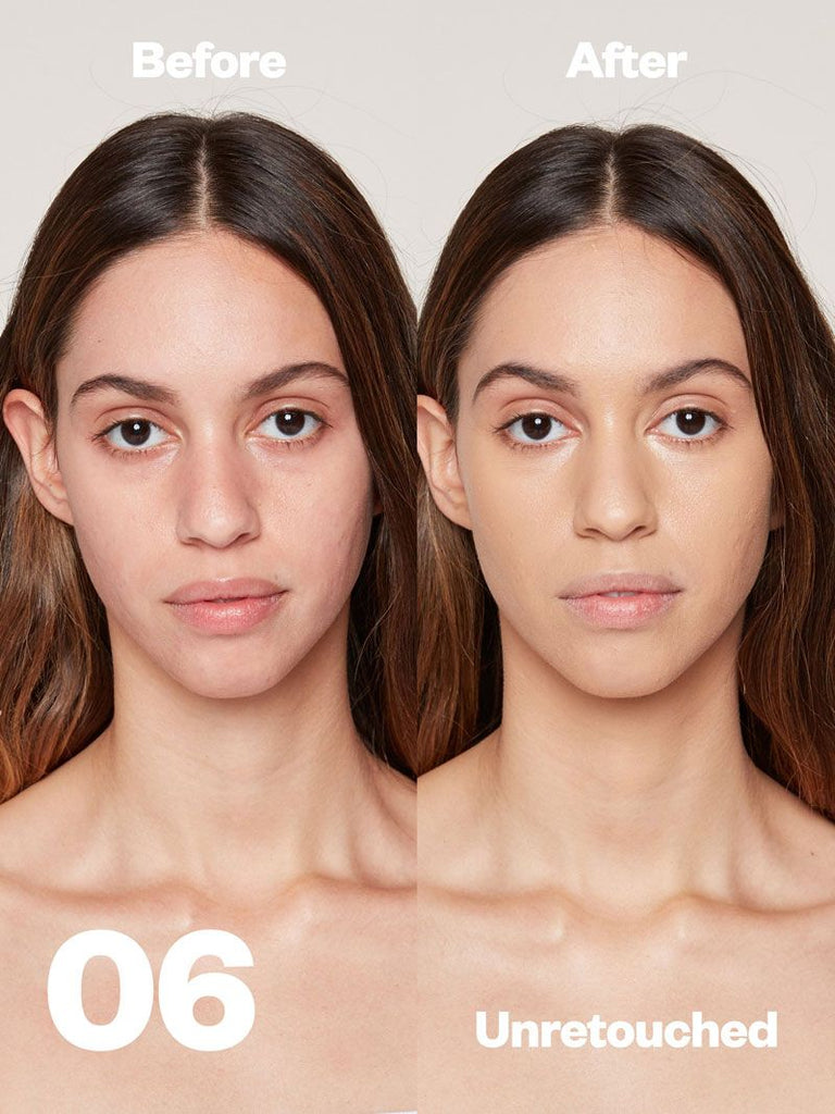 Kosas Cosmetics Revealer Concealer Super Creamy + Brightening (Tone 06) before/after on face