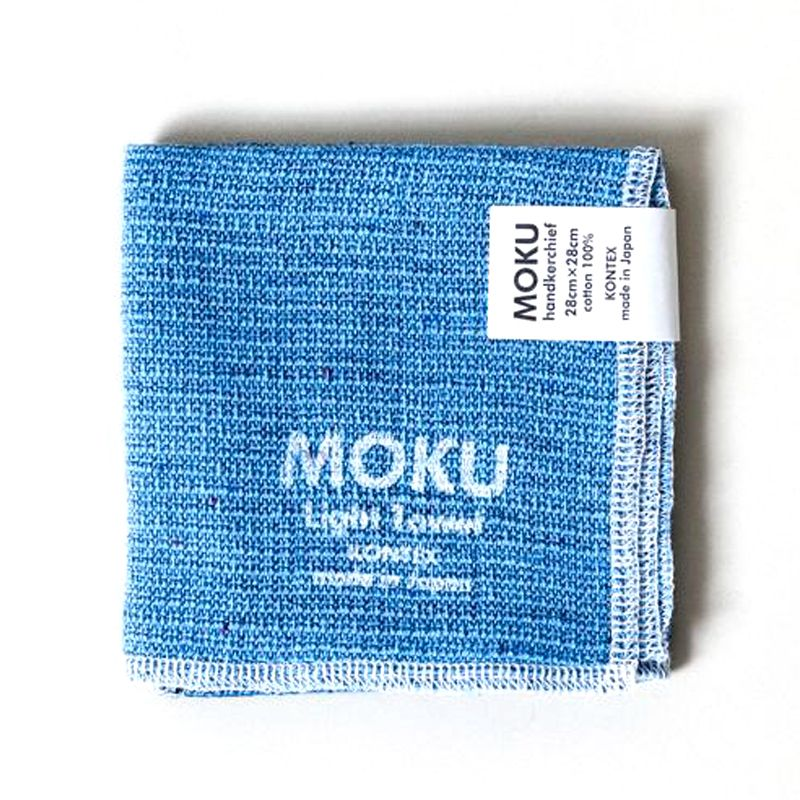 Kontex Moku Light Towel, Azure Washcloth
