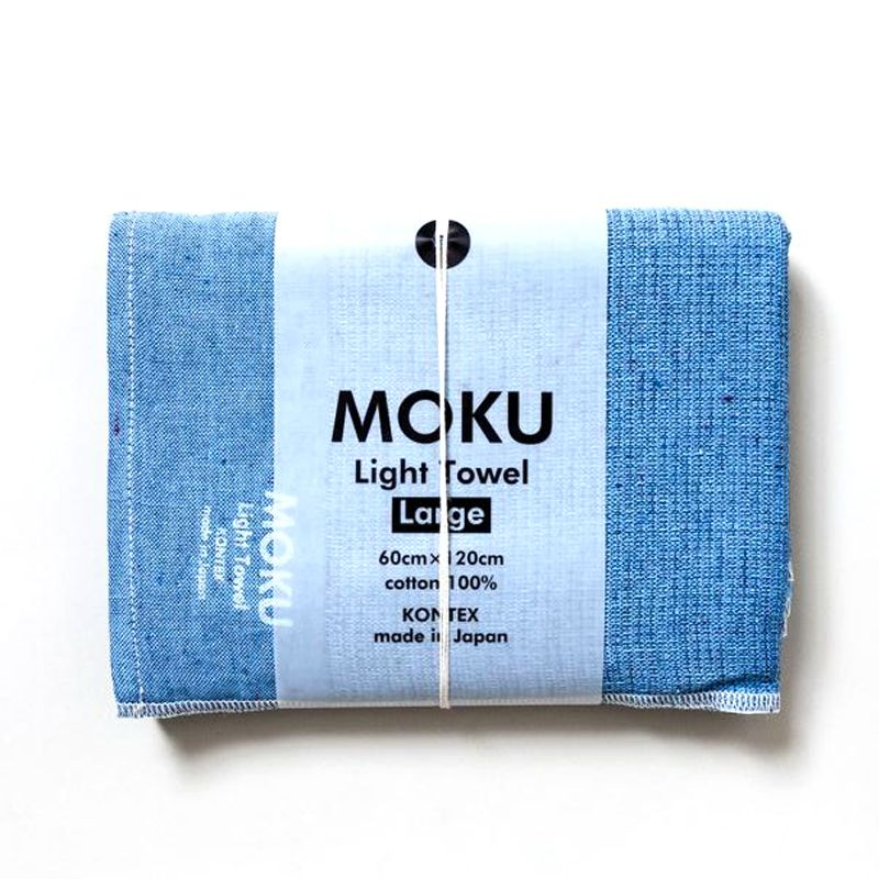 Kontex Moku Light Towel, Azure Bath Towel