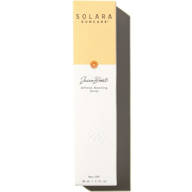 Solara Suncare JuiceBoost Defense Boosting Serum (Non-SPF) box
