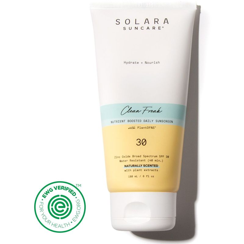 Solara Suncare Clean Freak Nutrient Boosted Daily Sunscreen (Naturally Scented) (6 oz)