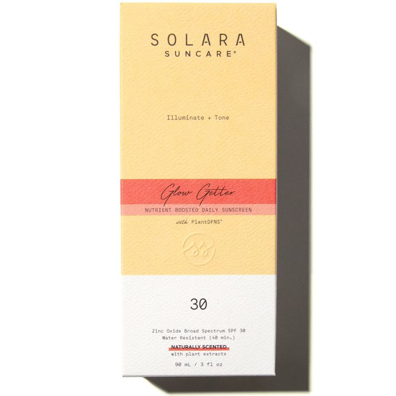 Solara Suncare Glow Getter Nutrient Boosted Daily Sunscreen (Naturally Scented) box