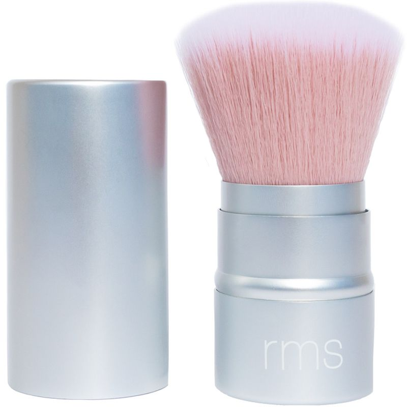 RMS Beauty Living Glow Face & Body Powder Brush with cap at side