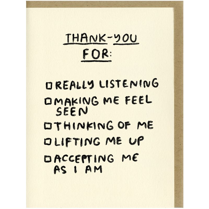 People I've Loved Thank-You Checklist Card