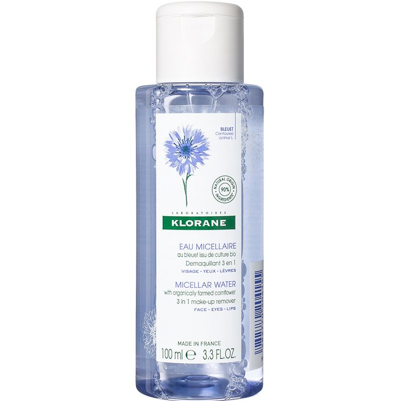 Klorane Micellar Water with Organically Farmed Cornflower (3.3 oz)