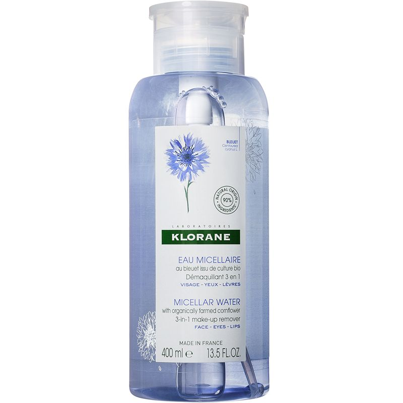 Klorane Micellar Water with Organically Farmed Cornflower (13.5 oz)