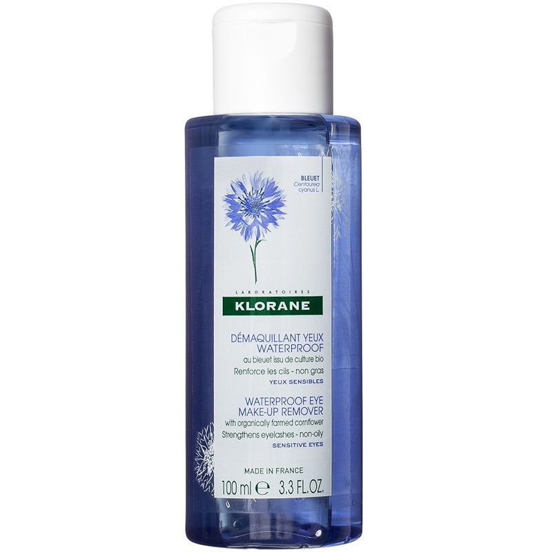 Klorane Waterproof Eye Make-up Remover with Organically Farmed Cornflower (3.3 oz)
