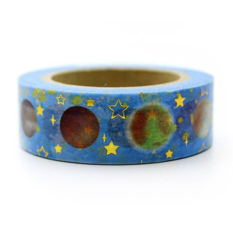 "Love My Tapes Planet with Stars Foil Tape (5/8"" x 32.8 ft)"