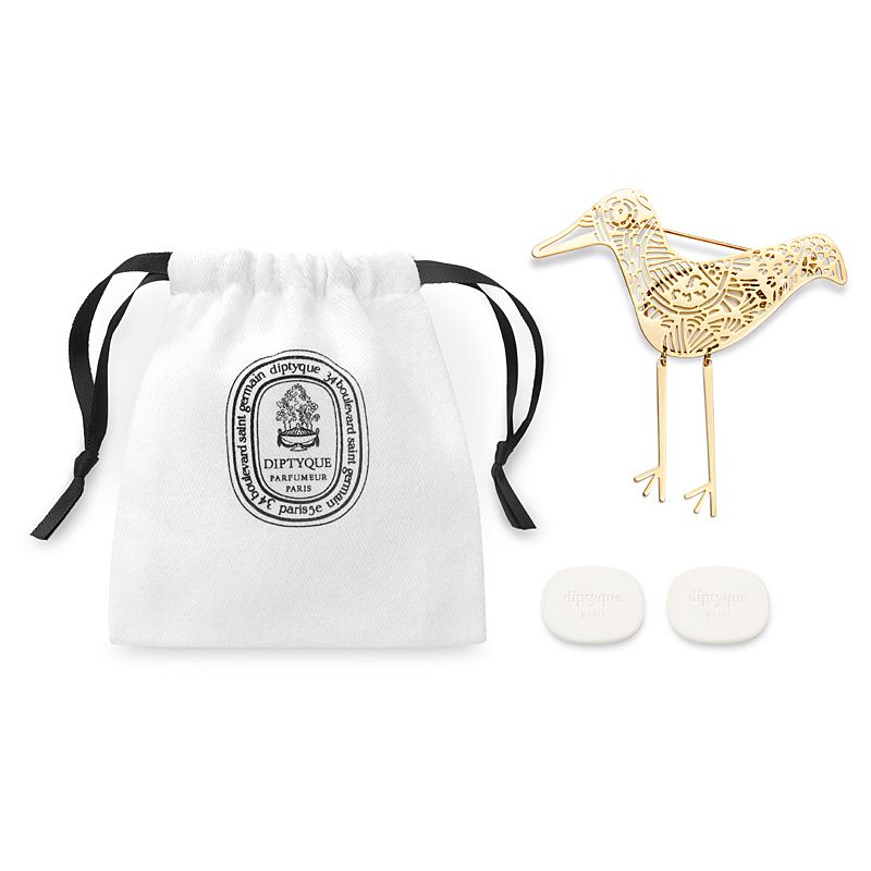 Diptyque Eau Capitale Perfumed Brooch showing box contents