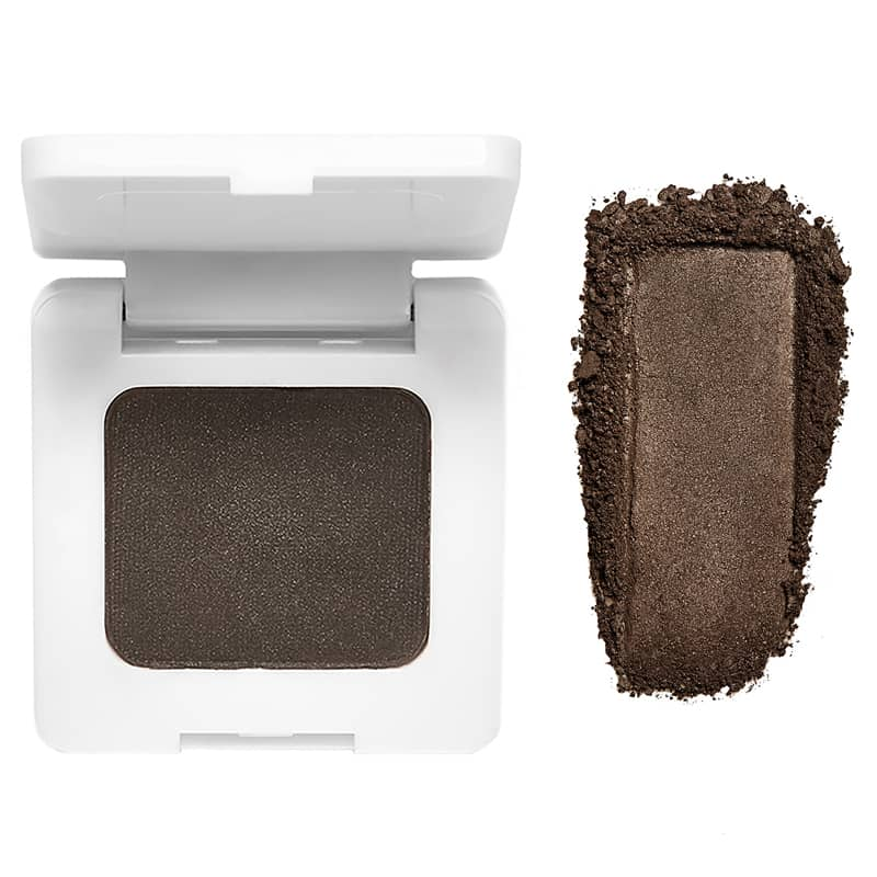 RMS Beauty Back2Brow Powder (Dark 3.5 g) with color smear