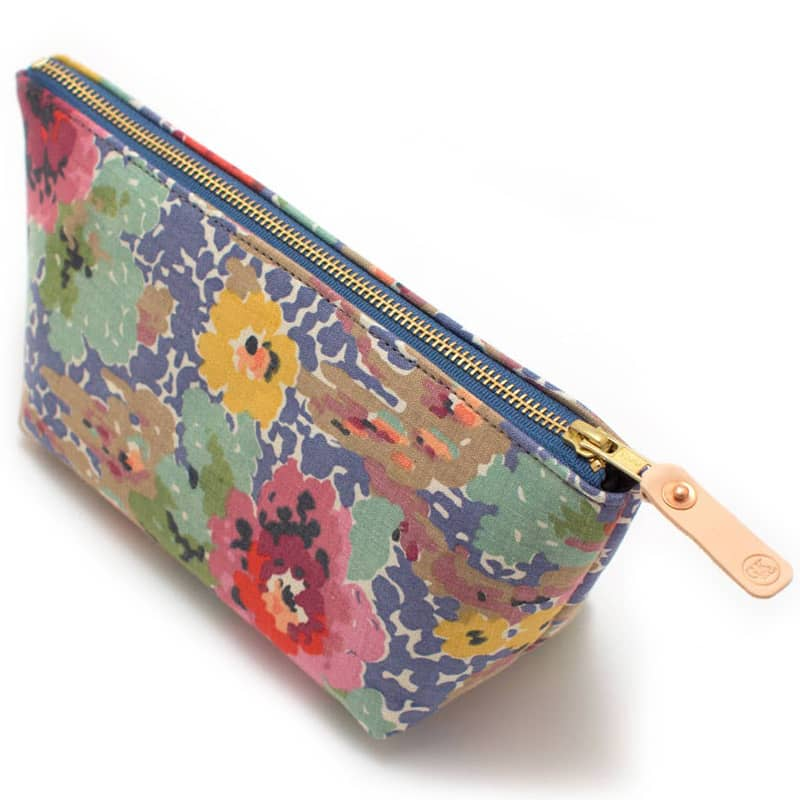 General Knot & Co. Vintage Indian Head Floral Travel Clutch - angle view