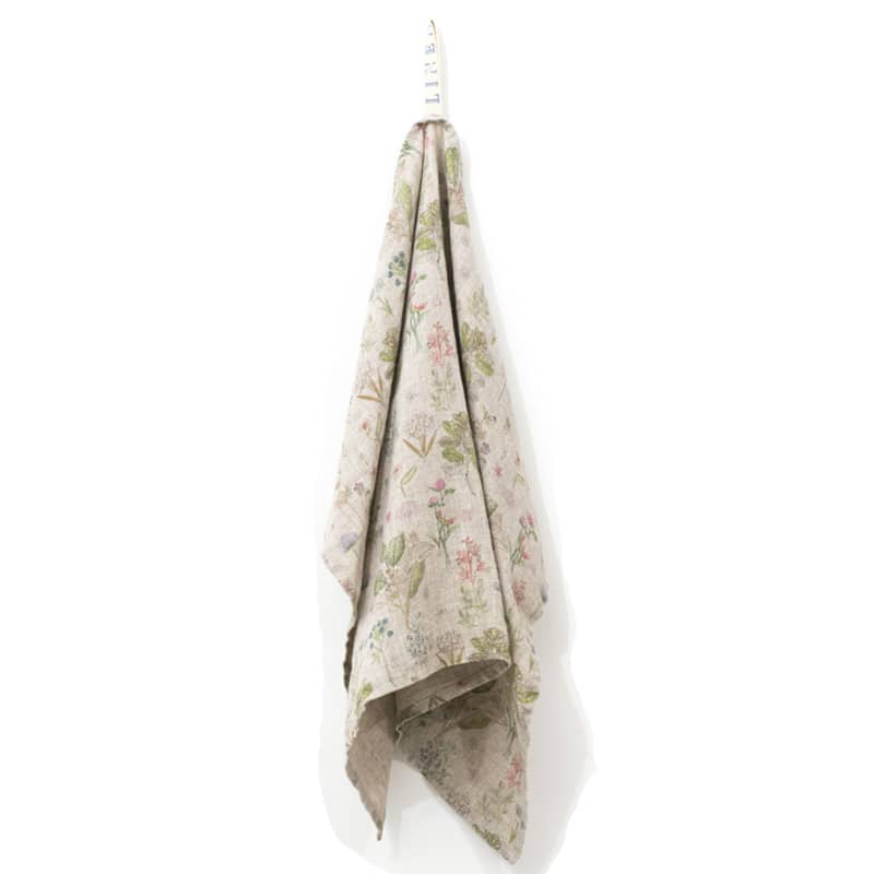 Linen Tales Botany Print Kitchen Towel (1 pc)