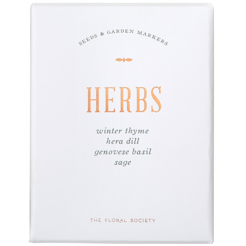 The Floral Society Herb Seed Kit (1 kit)