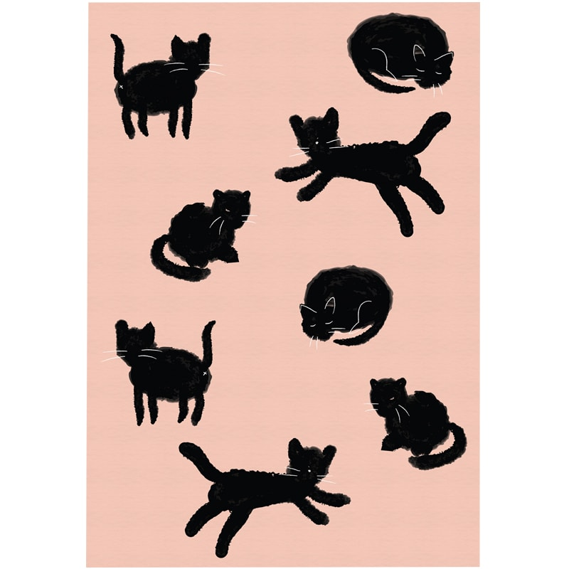 Mimi & August Cat Lover Greeting Card (1 card)