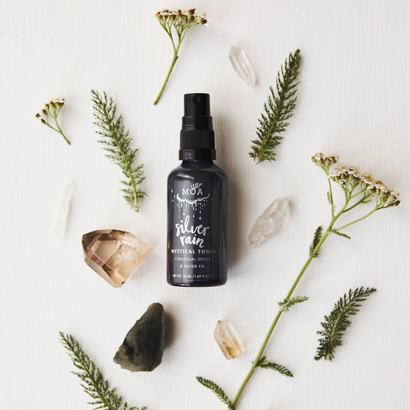 MOA Silver Rain Mystical Toner with plant and crystal ingredients