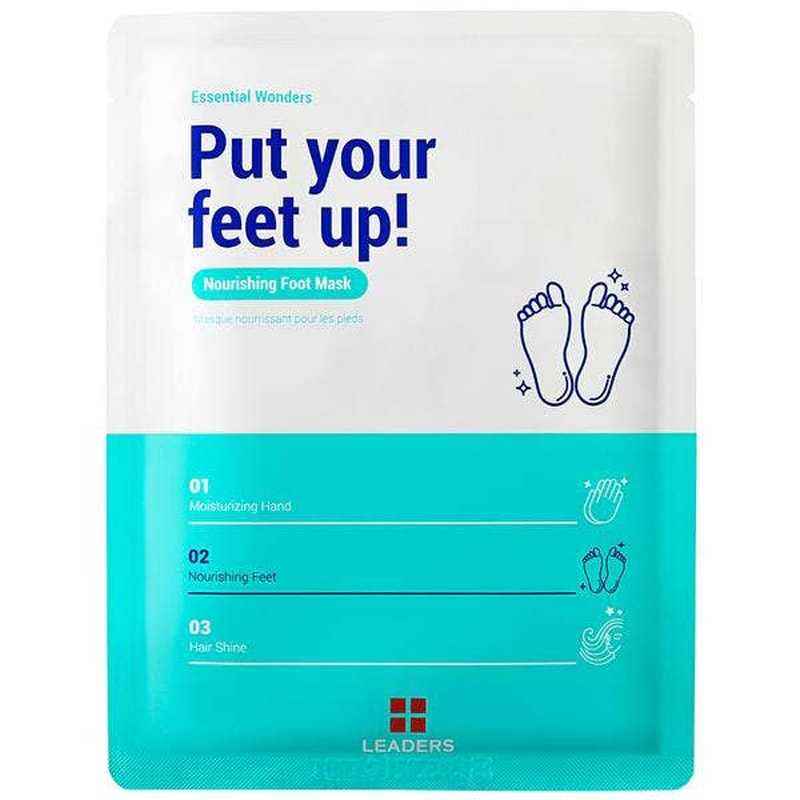 Leaders Cosmetics Essential Wonders Put Your Feet Up! Nourishing Foot Mask (1 set)
