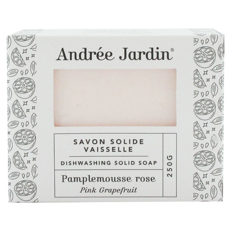 Andree Jardin Solid Dish Washing Soap - Grapefruit Rose (250 g)