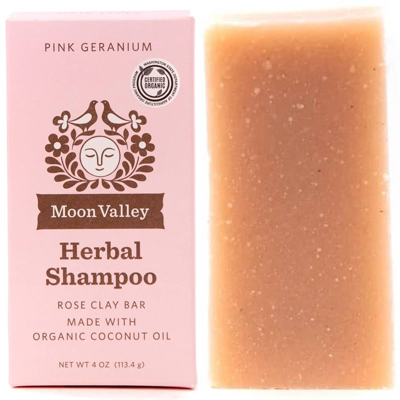 Moon Valley Organics Pink Geranium Shampoo Bar (4 oz)
