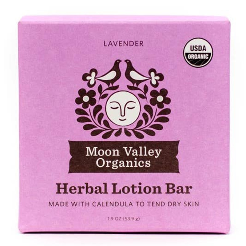Moon Valley Organics Lavender Herbal Lotion Bar (1.9 oz) box