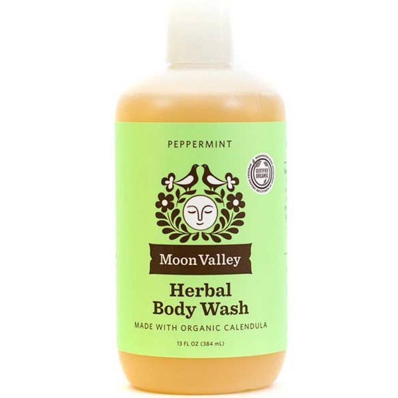 Moon Valley Organics Peppermint Herbal Body Wash (13 oz)