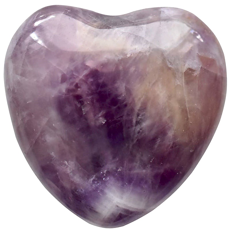 Open Heart Apothecary Amethyst Heart Crystal (1 pc)