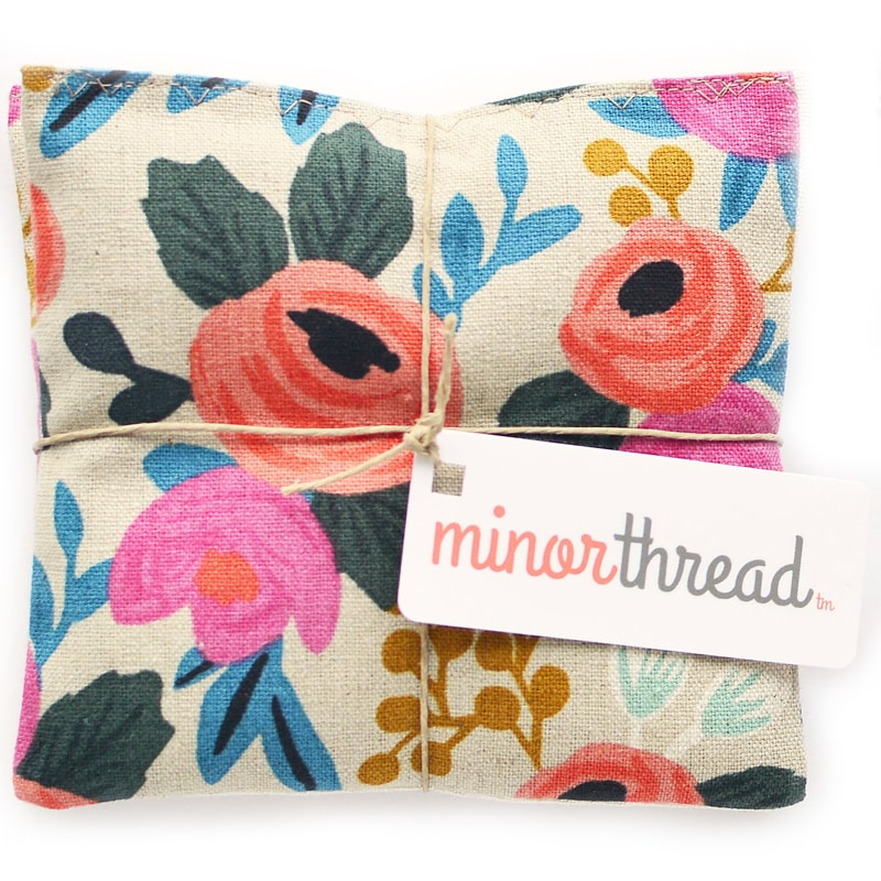 Minor Thread Organic Lavender Sachets in Rosa Floral Canvas (2 pcs)