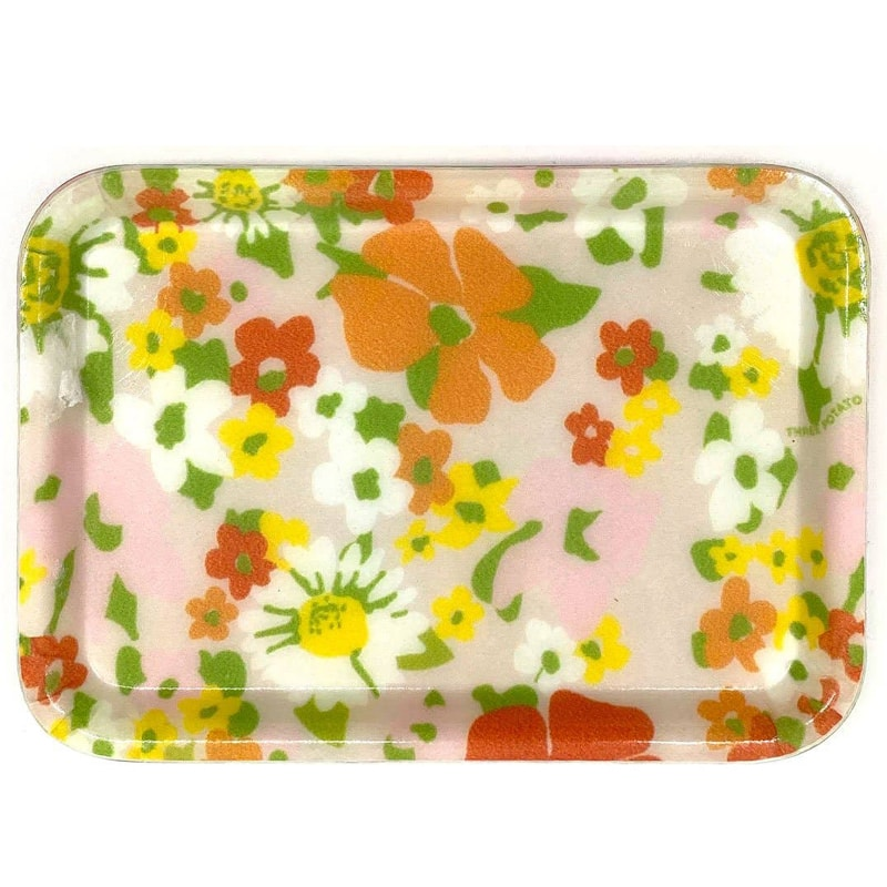 Three Potato Four Small Trinket Tray - Wildflowers (1 pc)