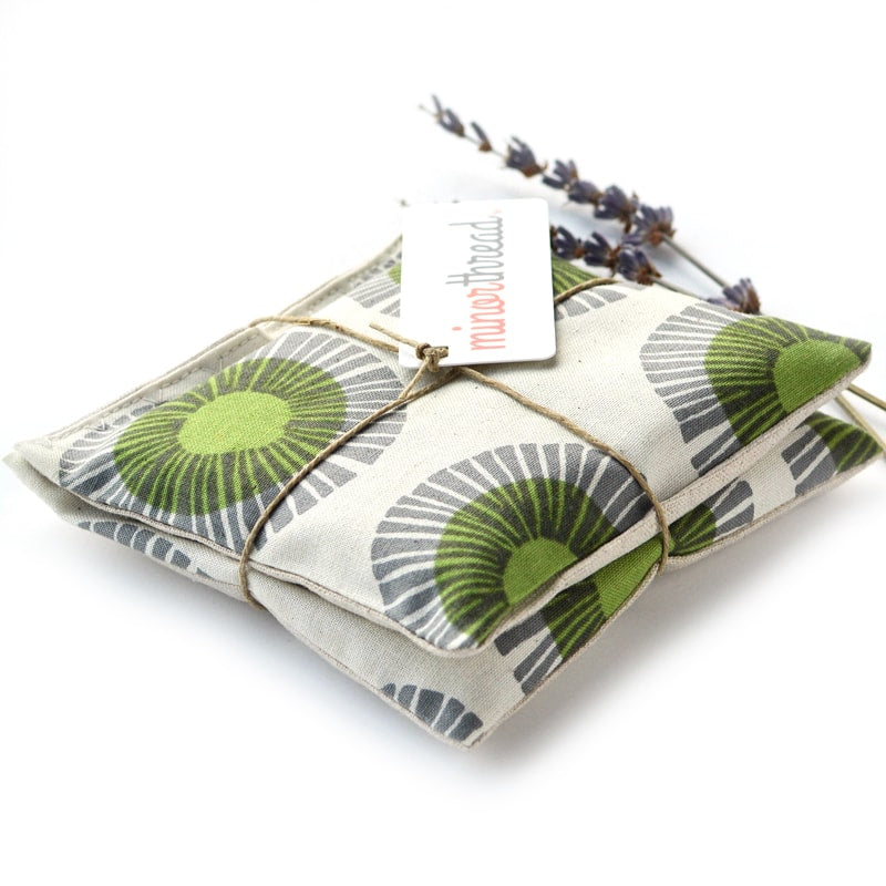 Minor Thread Organic Lavender Sachets in Seaside Daisy Sage angle view