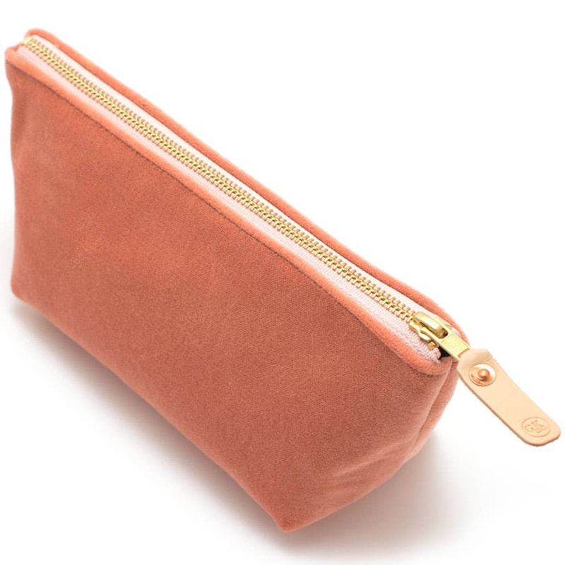 General Knot & Co. Cameo Velvet Travel Clutch angle view