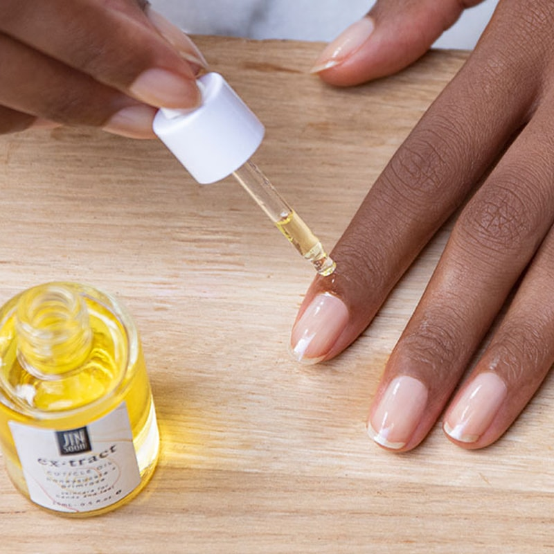 JINsoon HyperCare Cuticle Oil using model's hands