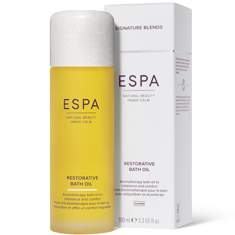 ESPA Restorative Bath Oil with box