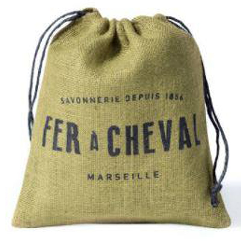 Fer a Cheval Genuine Marseille Soap Flakes Sachet (Olive Based) Jute bag