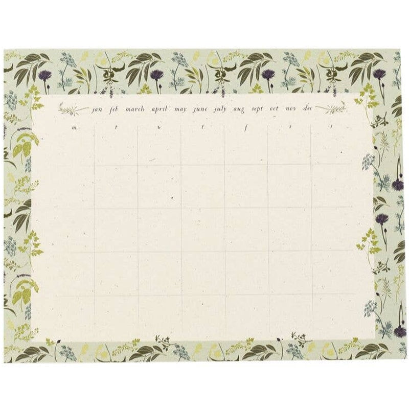 June & December Garden Herb Monthly Desk Pad (1 pad - 55 sheets)