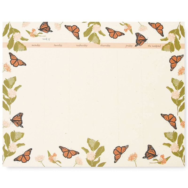 June & December Monarchs Weekly Desk Pad (1 pc - 55 sheets)