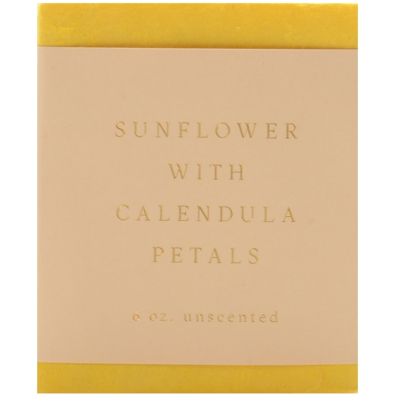 Saipua Soaps Sunflower with Calendula Petals Unscented Soap (6 oz)