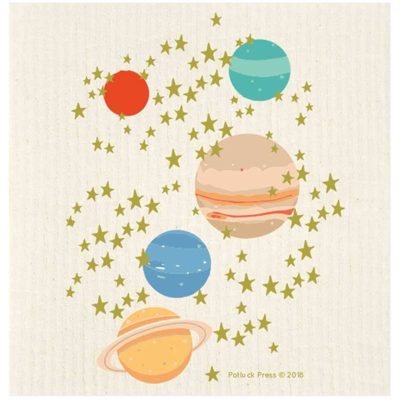 Potluck Press Stars and Planets Swedish Dishcloth (1 pc)