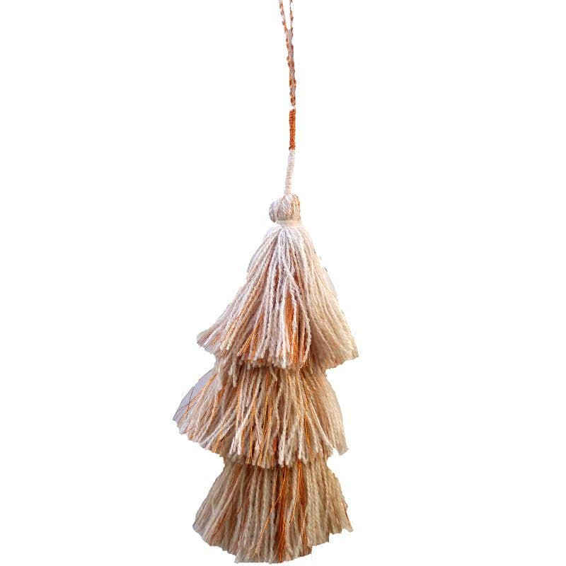 Tamra Copper LA Tamra Tassels: Natural (1 string with 3 tassles on it)