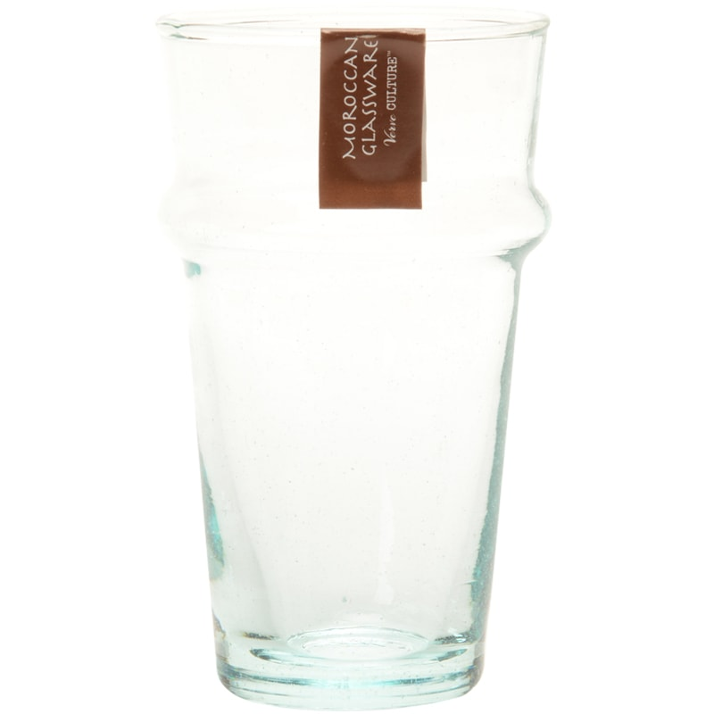 Verve Culture Moroccan Beldi Glassware - Clear - single glass for detail
