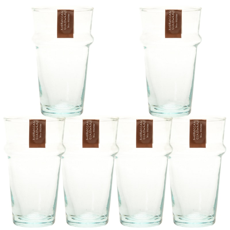 Verve Culture Moroccan Beldi Glassware - Clear (6 pcs)