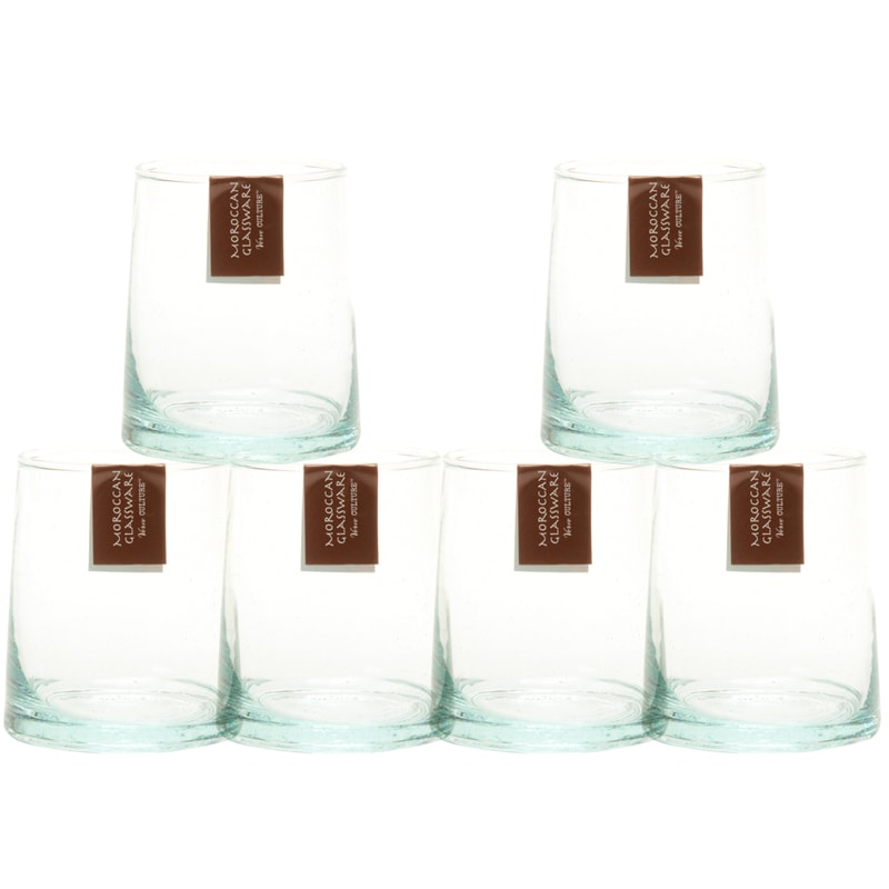 Verve Culture Moroccan Cone Small Glasses - Clear (6 pcs)