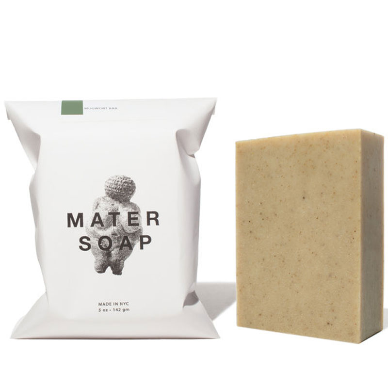 Mater Soap Mugwort Bar Soap with packaging