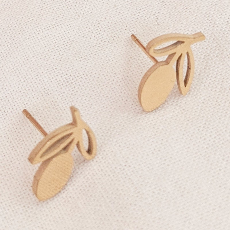 Mimi & August Lemon Stud Earring - Gold Plated - showing studs