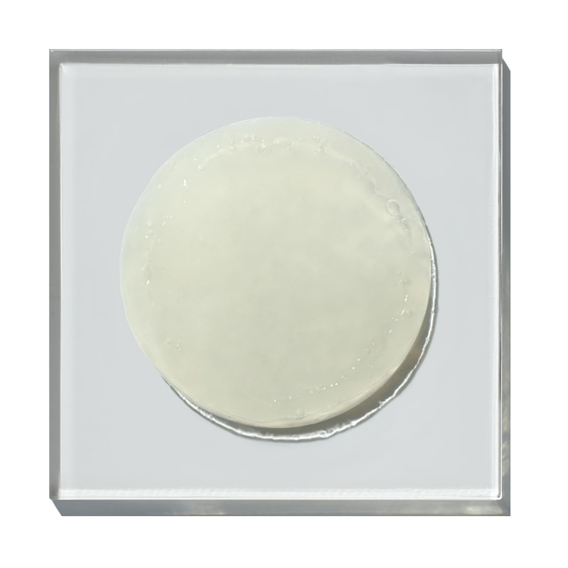 Ingredients Face Cleanser product droplet on glass square