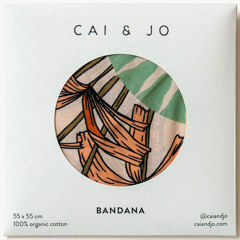 cai & jo The Tropics Bandana in packaging as received