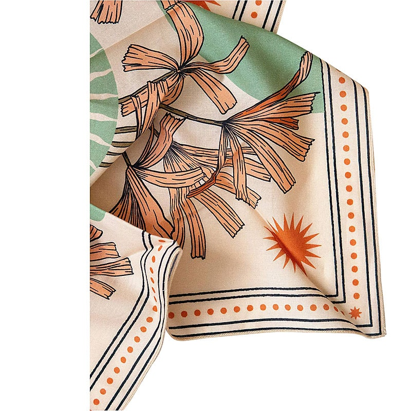 cai & jo The Tropics Bandana - print close-up