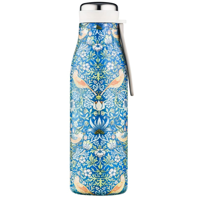 Ecoffee Cup Hot/Cold Vacuum Bottle – William Morris Thief - closed bottle. holds 1/2 Liter