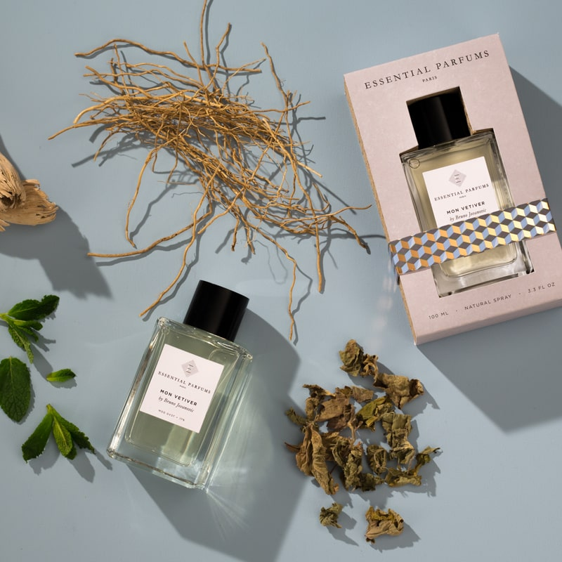 Essential Parfums Mon Vetiver Perfume by Bruno Jovanovic with primary scent ingredients