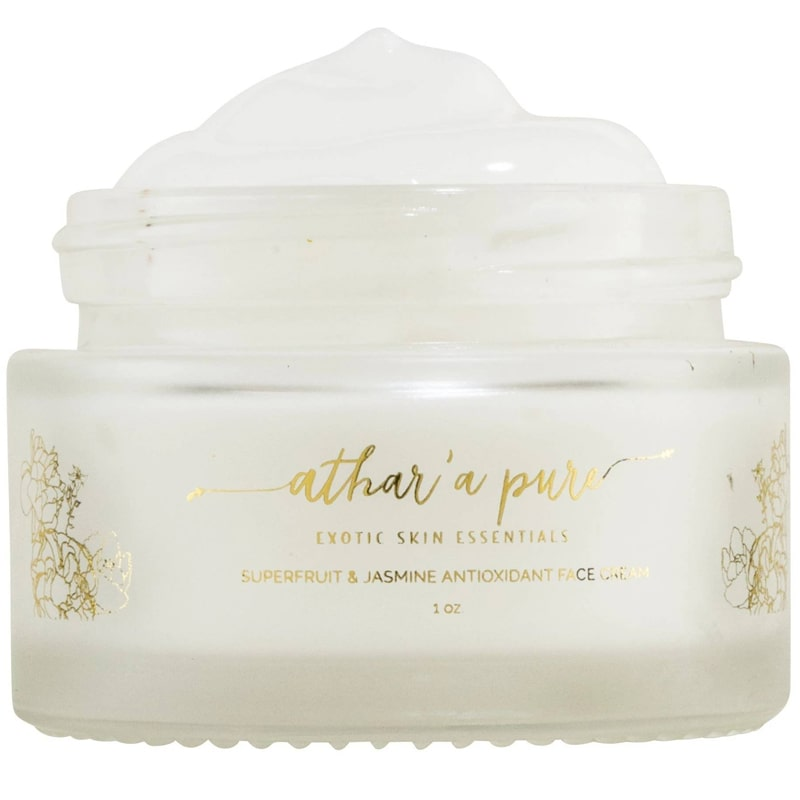 Athar'a Pure Superfruit & Jasmine Antioxidant Face Cream open jar